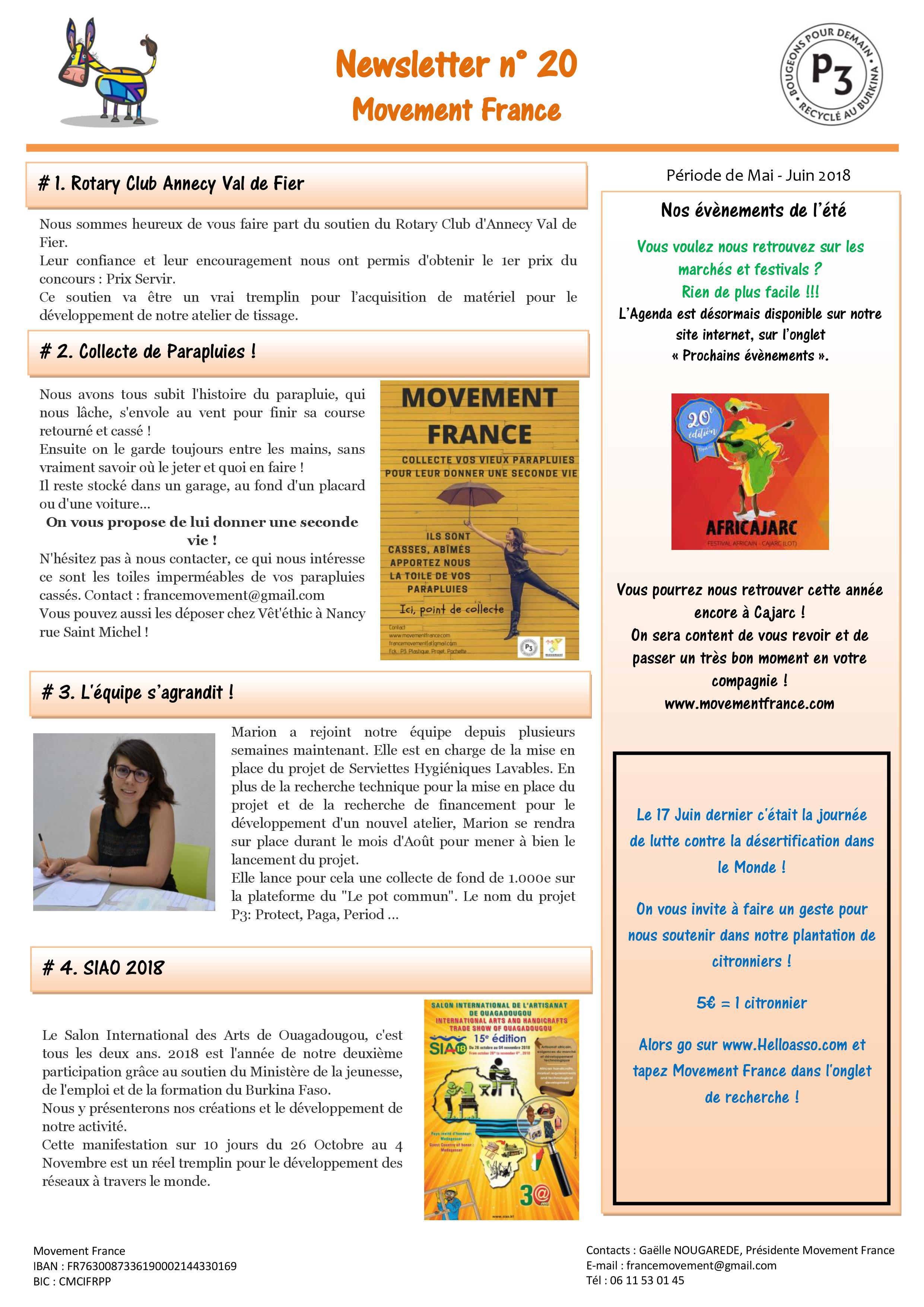Newsletter N°20